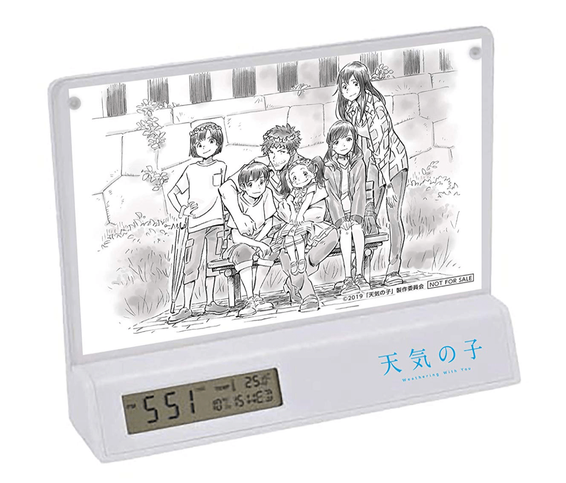 天気の子 Amazon.co.jp限定 作画監督 田村篤氏 描き下ろし線画 フォトフレームクロック